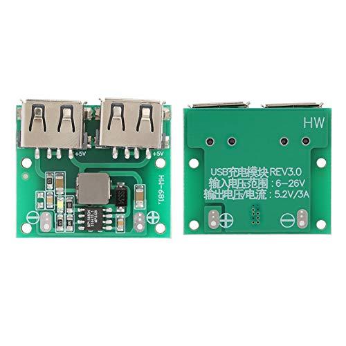 Módulo, rango de voltaje de entrada de 6-24 V ampliamente aplicable Módulo de cargador de energía de proceso de precisión para módulo de refuerzo de fuente de alimentación para muchos