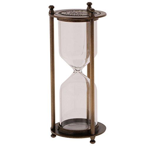 Fenteer Leere Sanduhr Stundenglas Sanduhren Eieruhr ohne Sand - 7 x 16 cm - Bronze - S, 7 x 16 cm