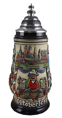 Zöller & Born Jarra de Cerveza Alemana Munich Oktoberfest, Jarra 0,5 litros...