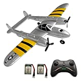 YCQNGO Remote Control Airplane, 2.4Ghz 2 Channel RC Plane Ready to Fly, Durable EPP Foam Built-in 3-Axis Gyro, Easy to Fly RC Aircraft and Great Gift Toy for Beginners and Kids with 2 Batteries