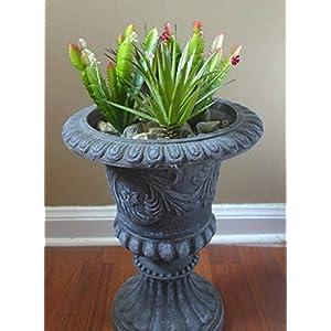 Artificial Flowers 4 Mini Plants Agave Gladiolus Blooming Cactus Desert Succulents Grass Realistic Flower Arrangements Craft Art Decor Plant for Indoor Outdoor Decoration