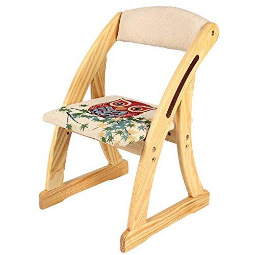 Solide Chaise de bois enfants bas Tabouret Hauteur ajustable Jardin d'enfants Chaise d'écriture de petits enfants enfant Fauteuil Canapé Peinture Chaise d'apprentissage Siège Changement Banc de chauss