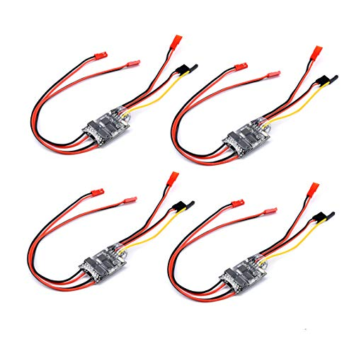 FPVDrone 5A ESC Brushed Speed Controller Dual Way Bidirectional ESC 2S-3S Lipo for RC Model Boat/Tank 130 180 Brushed Motor Spare Parts(4PCS)