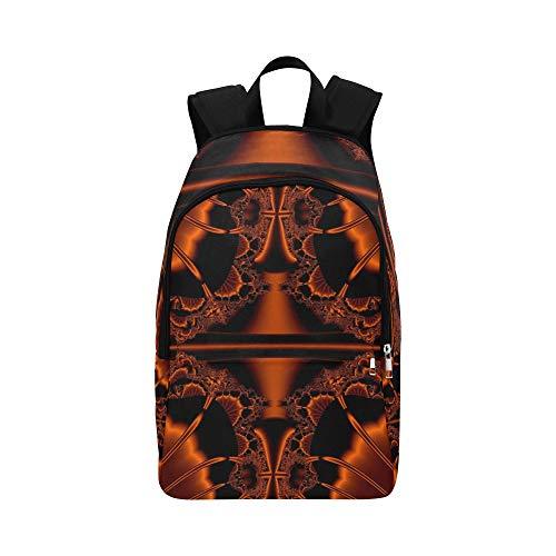 AIKENING Art Fractal Artwork Creative Concept Idea Casual Daypack Travel Bag College School Backpack for Mens and Women