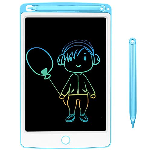 NOBES Tableta de Escritura LCD 8.5 Inch, LCD Tablero de Dibujo Grfica Pizarra Magica de Mensaje Memo Pad Electrnico con Lpiz Regalos para Nios,Clase,Oficina,Casa,Cocina (8.5 Inch, Grey)