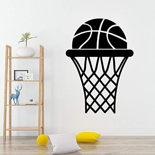 Sport Basketball Vinyl wasserdicht nach Hause Wandaufkleber Schlafzimmer Kinderzimmer Dekoration Soft Pink M 30cm x 41cm