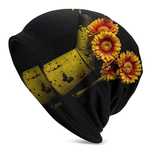 Hangdachang Gerbera Blumen in einem Alten gelben Öl kann Frauen Slouchy Beanie...