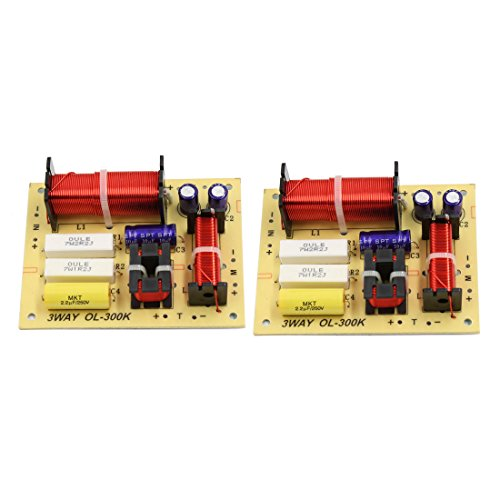 uxcell 2pcs 180W Speaker Audio Frequency Divider 3 Way Crossover Filters for Car
