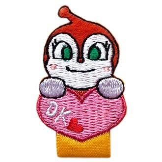 名札付け アンパンマン ばいきんまん ドキンちゃん ワッペン 刺繍 アイロン接着 キャラクター アップリケ アイロンワッペン かわいい 正規品 (ドキンちゃん)
