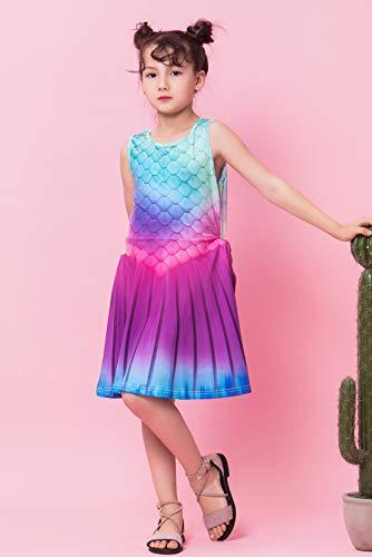 chicolife Vestidos de Princesa Lollipops de Chica Dulce Candy House Impreso Vestido sin Mangas