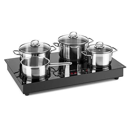 Klarstein Deejay inductiekookplaat - kookplaat, keramische oppervlak, 3500 watt max, Nieuw type inductietechnologie, boostfunctie, aanraakbediening, vrijstaand of ingebouwd apparaat, zwart
