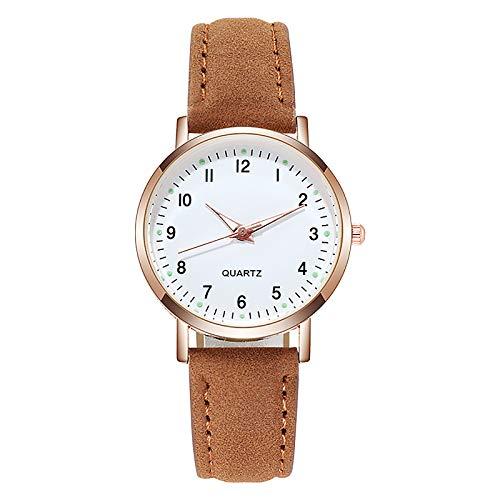 Graceyo Leuchtend Quarzuhr für Damen Frauen Einfaches Analoger Quarz Uhren Wasserdichter Damen Uhren Geschäft Kleid Armbanduhren Damenuhren Casual Retro Watch Uhr Damenuhr
