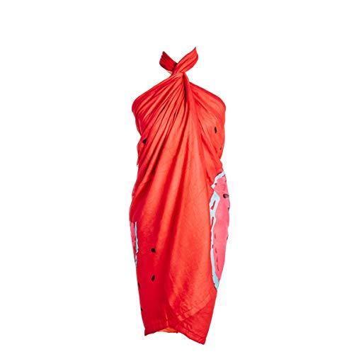 SIGRIS Decor and Go Pareo-Toalla Rojo Moda Toallas Y Pareos ⭐