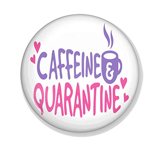 Gifts & Gadgets Co. Caffeine Quarantaine Miroir de maquillage rond 58 mm