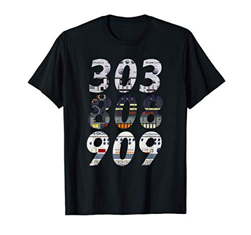 DJ Controller 303 808 909 Techno Rave Musik Synthesizer T-Shirt