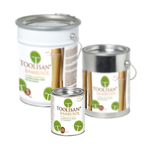 Bambus Pflegeöl hell - Hochwertiges Ölharz für Zäune, Rohre & Terrassendielen 0,75 Liter