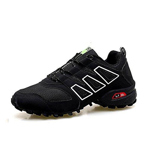 XIANV Herren Männer Wanderschuhe Nubuk Kletterschuhe Outdoor Trekking Schuhe Männer Bergschuhe (42, schwarz)