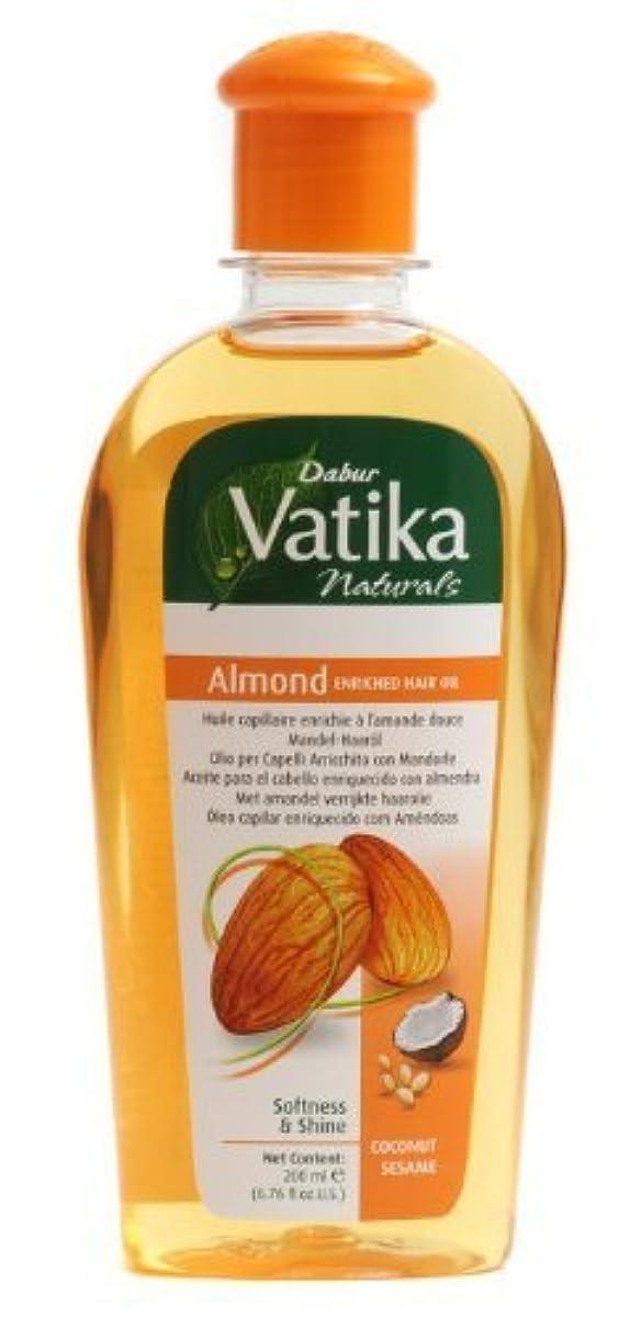 ロータリー無力コースDabur Vatika Naturals Almond Enriched Hair Oil Softness and Shine coconut sesame 200 ml [並行輸入品]