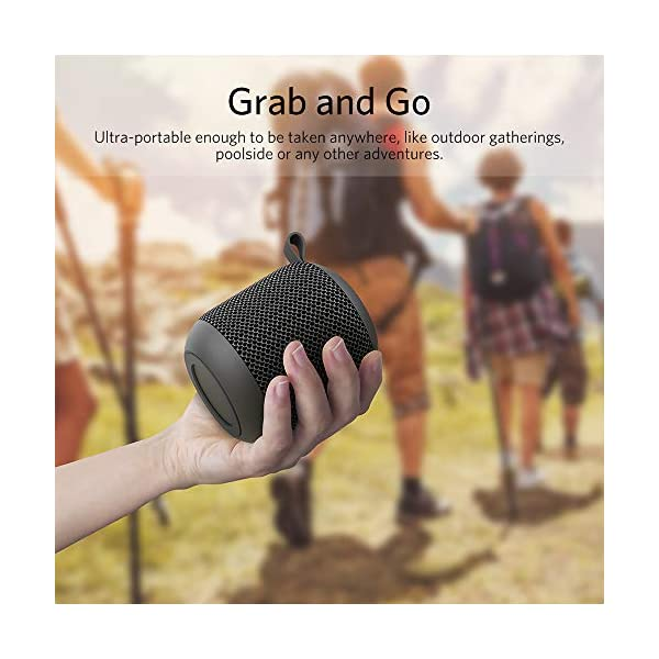 FIODIO Portable Speakers, Outdoor Wireless Mini IPX6 Waterproof Shower Travel Speaker with 5W Driver, Built-in…