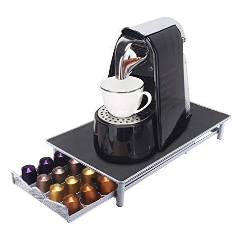 Porta capsule da caffè durevole,cassetto portaoggetti in metallo per cialde da caffè,compatibile con capsule Nespresso con capacità di 40 pezzi