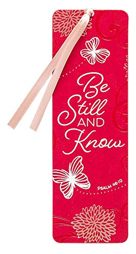 Be Still and Know Bookmark (Faux Leather) – Exquisite Imitation Leather Bookmark for Everyone – Heat Debossed and Foil Stamped, Makes an Inspirational Gift for Book Lovers