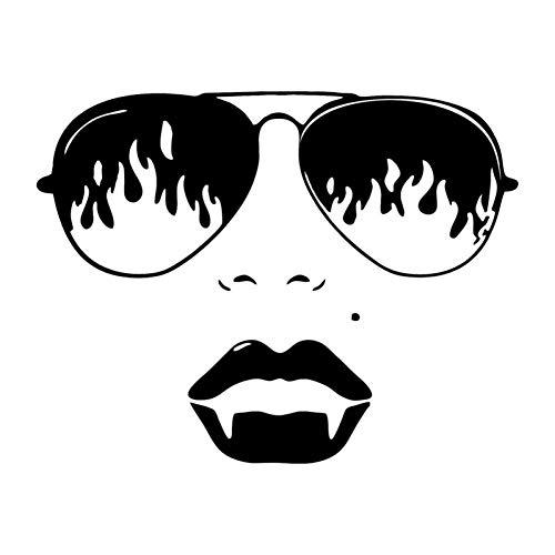 MCTYLI 18,4 * 14,2 cm mode zonnebril meisjes autosticker reflecterend vinyl motorfiets sticker zwart/zilver