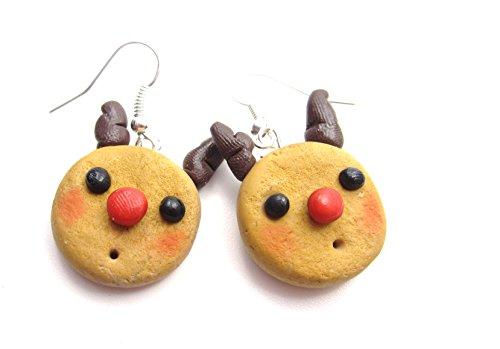 Rentier Keks Ohrringe Damen Modeschmuck handmade