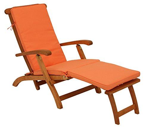 Polsterauflage DENVER für Deckchair oder Liegestuhl 176cm, terracottafarben