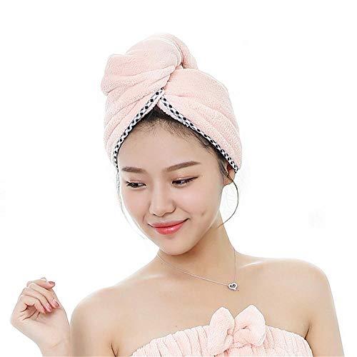 Llxxx Handdoek, 2 stuks, microvezel-haardoekwikkels, voor vrouwen, superabsorberende, sneldrogende haartulband voor het drogen van krullend, droog haar, badhaarkap