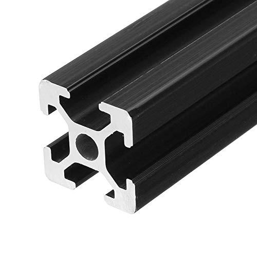 LanGuShi LGJ0305 300mm Length Black Anodized 2020 T-Slot Aluminum Profiles Extrusion Frame For CNC J Multifunction
