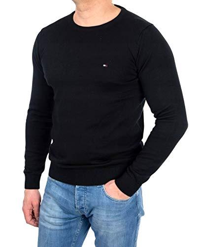 Tommy Hilfiger Herren Pullover ATLANTIC C-NK CF / 857837484, Gr. 52 (L), Schwarz (083 Flag Black)