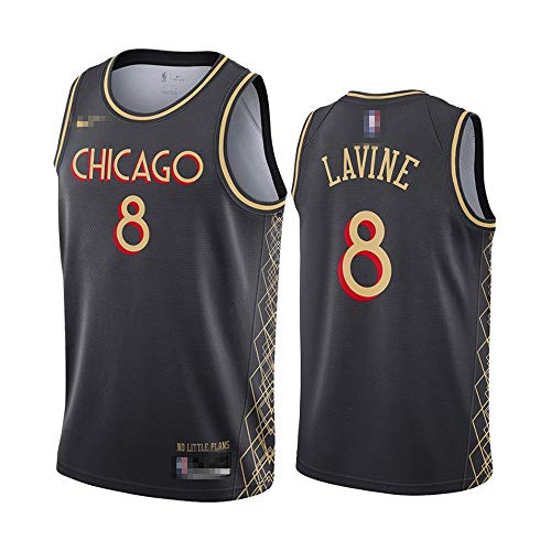 Camiseta de baloncesto sin mangas para hombre, camiseta de baloncesto Zach Chicago NO.8 Bulls LaVine Fast Break réplica de baloncesto uniforme de secado rápido transpirable sudadera