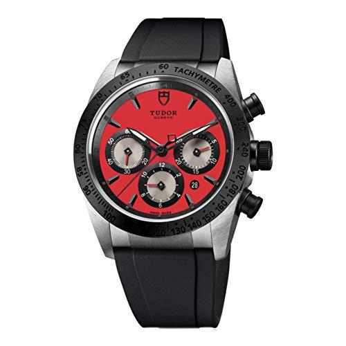 Tudor da uomo, 42mm, colore: Nero, gomma Band Steel case Automatic Watch...