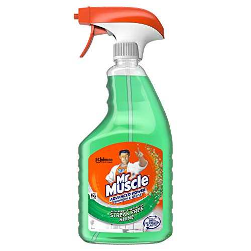 Mr Muscle Window & Glass Cleaner, Advanced Power Cleaning Spray for Streak Free Shine, 750 ml