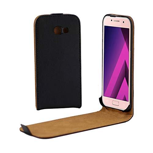 YUNCHAO Funda Protectora de para Galaxy For Samsung Galaxy A3 (2017) / A320 Funda de Cuero con Tapa Trasera Protectora Vertical Caja del teléfono Celular