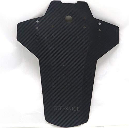 SASCD Garde-Boue à vélos avec Grain de Fibre de Carbone for vélo MTB/Route (Color : Black)