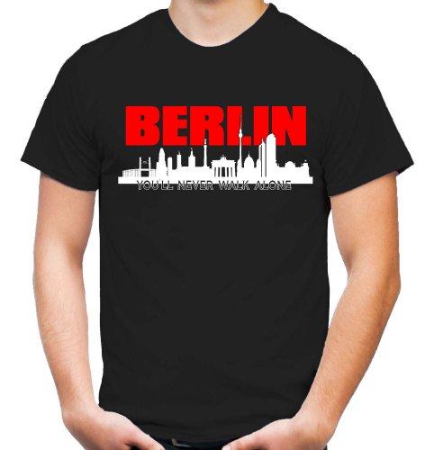 Berlin Skyline T-Shirt | Fussball | Ultras (XXL)
