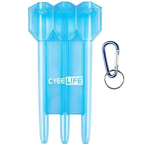 CyeeLife-Blau Dart case Professionelle Kunststoff transluzent Geldbörse Box Wallet
