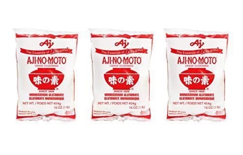 Aji No Moto Ajinomoto Monosodium Glutamate Umami Seasoning 454g / 1LB / 16oz HALAL - PACK OF 3