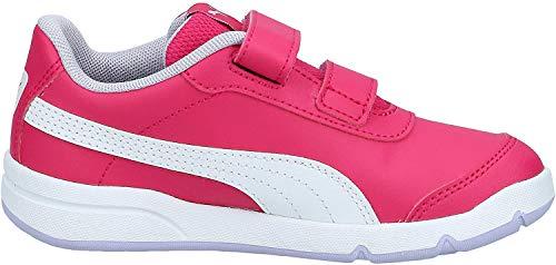 PUMA STEPFLEEX 2 SL VE V PS, Zapatillas Unisex niños, Rosa (Bright Rose White/Purple Heather/Peony), 33 EU