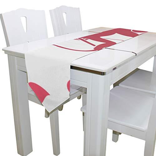 Cupido Lindo con Arco y Flecha Bolsos de Mujer Bolsos Grandes Bog Tote Table Runner Decor Interior 13x90 Pulgadas