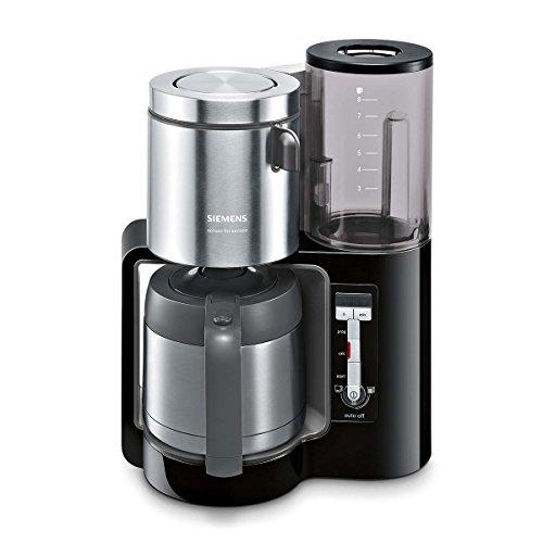 Siemens TC86503 Kaffeemaschine (1100 Watt, optimales Kaffeearoma, Timer-Funktion, abnehmbarer Wassertank, automatische Abschaltung) schwarz