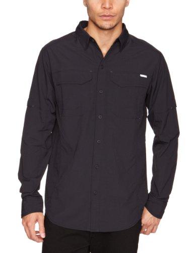 Columbia Men's Silver Ridge Long Sleeve Shirt, Black, Large