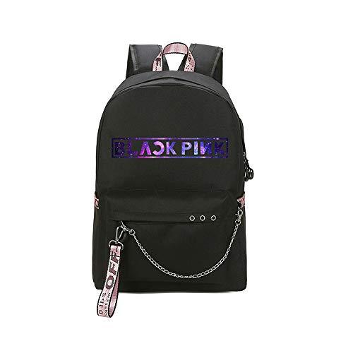 Blackpink Daypacks Beliebter Rucksack-wasserfester Campus-Schulreise-Daypack-Geschäfts-Rucksack für Frauen (Color : Black02, Size : 30 X 13 X 43cm)