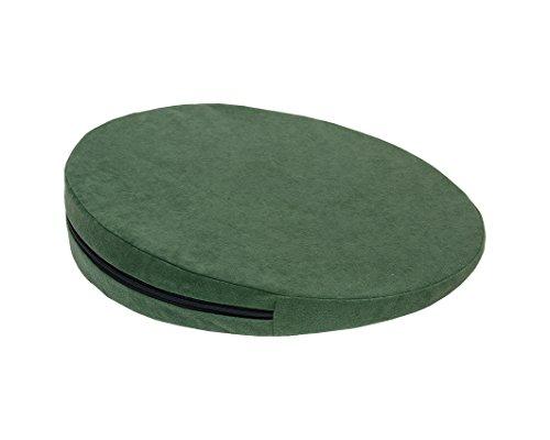 Keilkissen, RUND Ø 36 cm, 100% Baumwollbezug! - grün- Kissen Sitzkissen Sitzkeilkissen Sitzkissen Sitzkeil