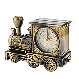 XYLXJ Sveglia a forma di treno artistico unico vintage accattivante per la decorazione della mensola della famiglia con movimento al quarzo