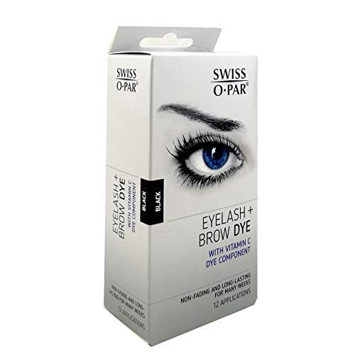 Swiss O.Par Long Lasting Eyelash And Brow Dye Kit-Black