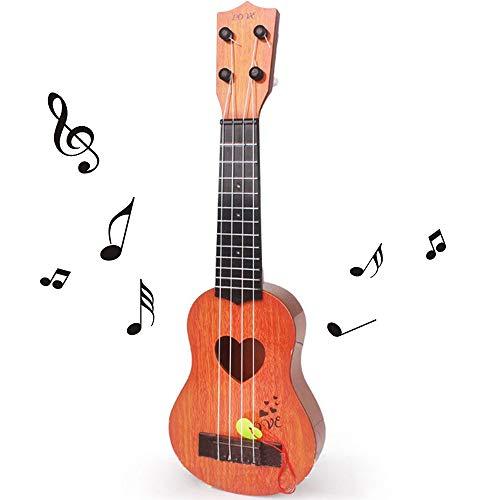 kabinga Guitarra de simulación, Juguete Musicales para niños, Instrumento de 4 Cuerdas, Caqui, Unisex-Baby, Middle