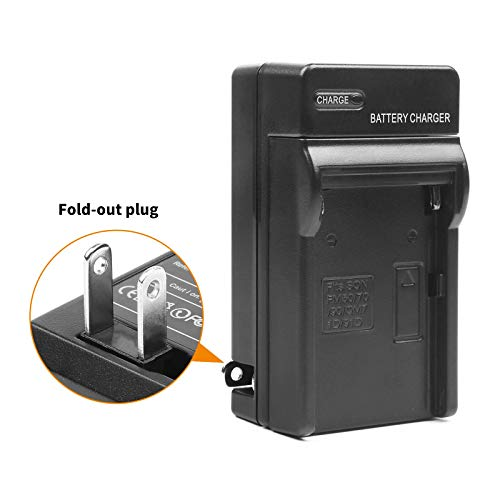 D&F NP-F970 NP-F960 Li-ion Replacement Battery with Recharge Charger for YONGNUO,VILTROX,GIGALUMI,NEEWER Camcorder LED Video Light