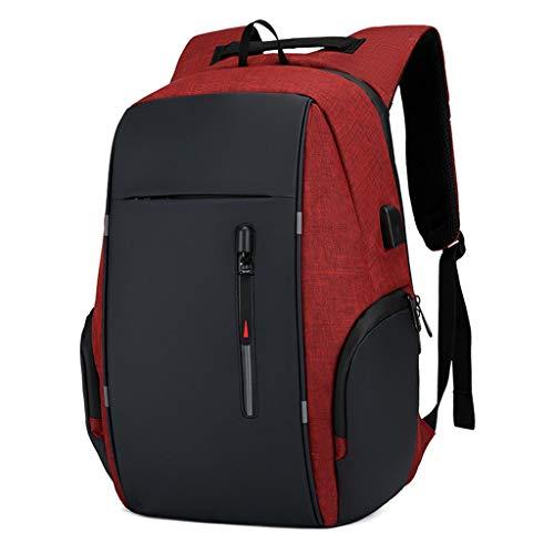 Business Travel Laptop Backpacks, Large Water Resistant Business Computer Bag with USB Charging Port Durable School Bookbag Computer Bag for Men Women Fits 17.3 Inch Laptop,D